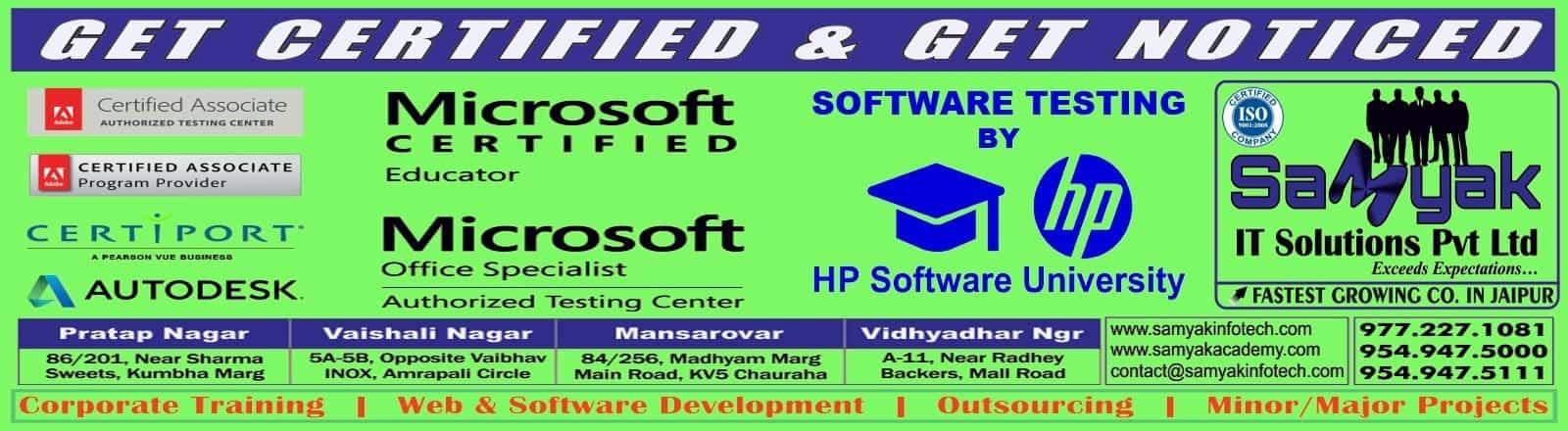 Certification Exams In Jaipur Rajasthan Adobe Hp Redhat